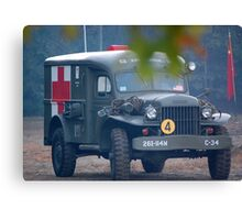 wwii Ambulance Canvas Print