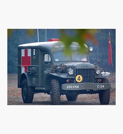 wwii Ambulance Photographic Print