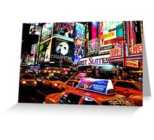 Times Square in New York City Greeting Card