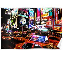 Times Square in New York City Poster
