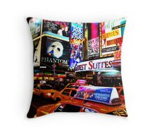 Times Square in New York City Throw Pillow