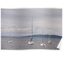 Sail Boats on Lake Champlain Poster