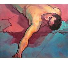 Fallen man Photographic Print