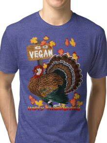 Go Vegan! Thanksgiving Tri-blend T-Shirt