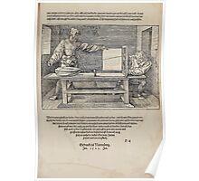 Measurement With Compass Line Leveling Albrecht Dürer or Durer 1525 0185 Ending Examples Poster