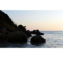 Rocks on the sea. Photographic Print
