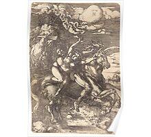 Albrecht Dürer or Durer Abduction on a Unicorn Poster