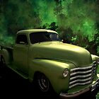 """1950 Chevrolet """"Lime Green"""" Pickup Truck by TeeMack"""