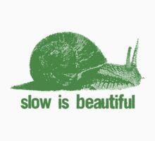 slow is beautiful - green by Vintage Tees