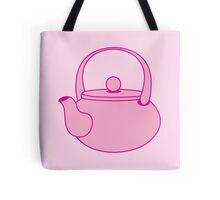 a cute pink tea kettle Tote Bag