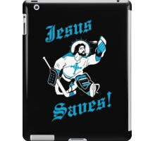 Jesus Saves Hockey Team iPad Case/Skin