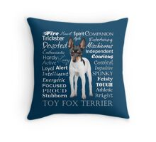 Toy Fox Terrier Throw Pillow