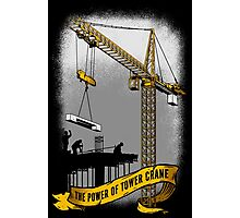 The Power Of Tower Crane Photographic Print