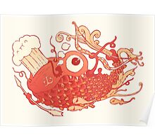 Japanese Red Carp Poster