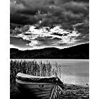 Boat On Loch Ard, Scotland. by Aj Finan