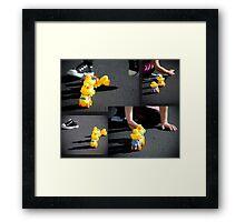 Rubber Duckie you're my very best friend, it's true Framed Print