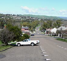 Overlooking Gundagai by Margaret  Hyde