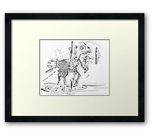 Merrygoround Horse - abstract pen and ink Framed Print