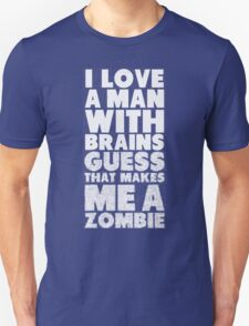 I love A man WithBrains Guess T-Shirt