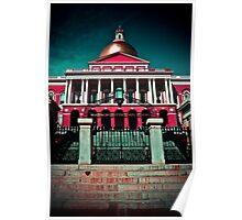 """Massachusetts State House"" - Boston, Massachusetts Poster"