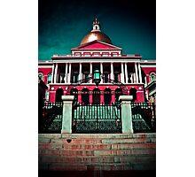 """Massachusetts State House"" - Boston, Massachusetts Photographic Print"