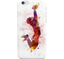 american football player catching ball iPhone Case/Skin