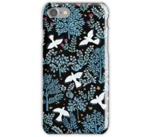 white birds garden iPhone Case/Skin