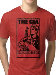 CIA 3rd World Tri-blend T-Shirt