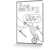 B is for Barbarous Battle of Baleens Greeting Card