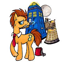 Doctor Whooves - Black Photographic Print