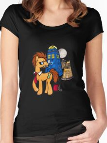 Doctor Whooves - Black Women's Fitted Scoop T-Shirt
