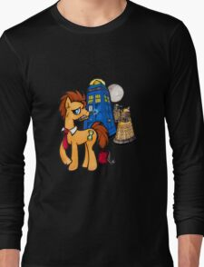 Doctor Whooves - Black Long Sleeve T-Shirt
