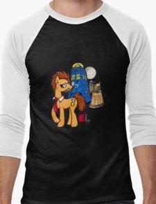 Doctor Whooves - Black Men's Baseball ¾ T-Shirt