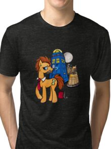 Doctor Whooves - Black Tri-blend T-Shirt