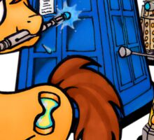 Doctor Whooves - Black Sticker