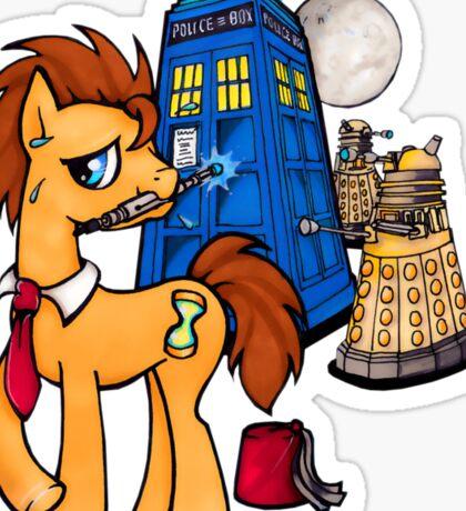 Doctor Whooves - Black Sticker