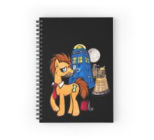 Doctor Whooves - Black Spiral Notebook