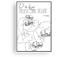 D is for Delusional Deluge of Dugongs Canvas Print