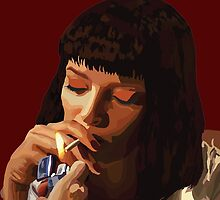 Pulp Fiction - Mia Wallace by rebeccamangano