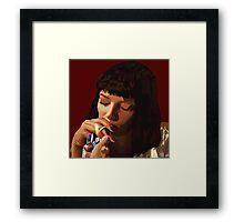 Pulp Fiction - Mia Wallace Framed Print