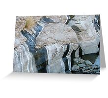 Water stained rock Greeting Card