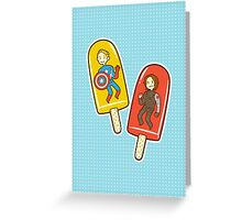 Super Soldier Ice Pops Greeting Card
