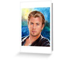 Chris Hemsworth Art Greeting Card