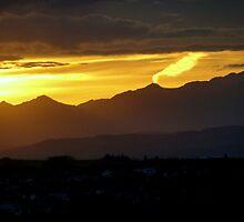 Active Volcano In The Rockies by Al Bourassa
