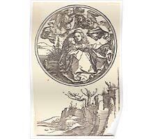 Albrecht Dürer or Durer The Virgin Crowned by Two Angels above a Landscape Poster