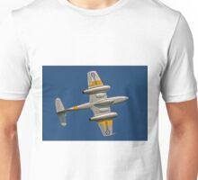 Gloster Meteor T.7 WA591 G-BWMF barrel rolling Unisex T-Shirt