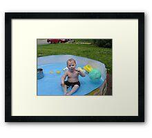 mean baby Framed Print