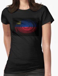 Lichtenstein Twirl  Womens Fitted T-Shirt
