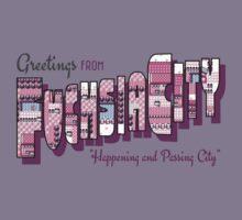 Greetings from Fuchsia City Kids Tee