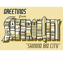 Greetings from Saffron City Photographic Print